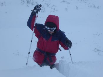 Wading through the snow on Cairngorm