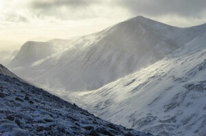 guided winter walking in the Highlands of Scotland