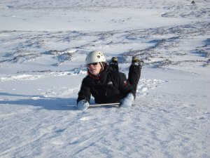 winter skills course and winter gear