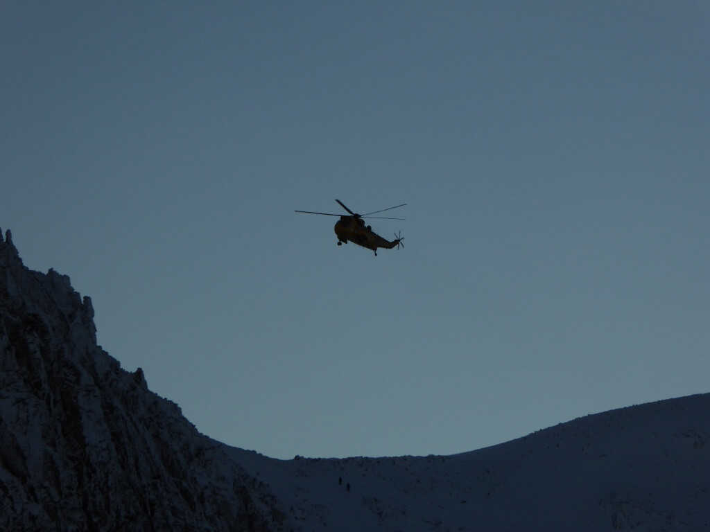 Cairngorms mountain rescue helicopter