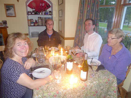 dinner at Fraoch Lodge