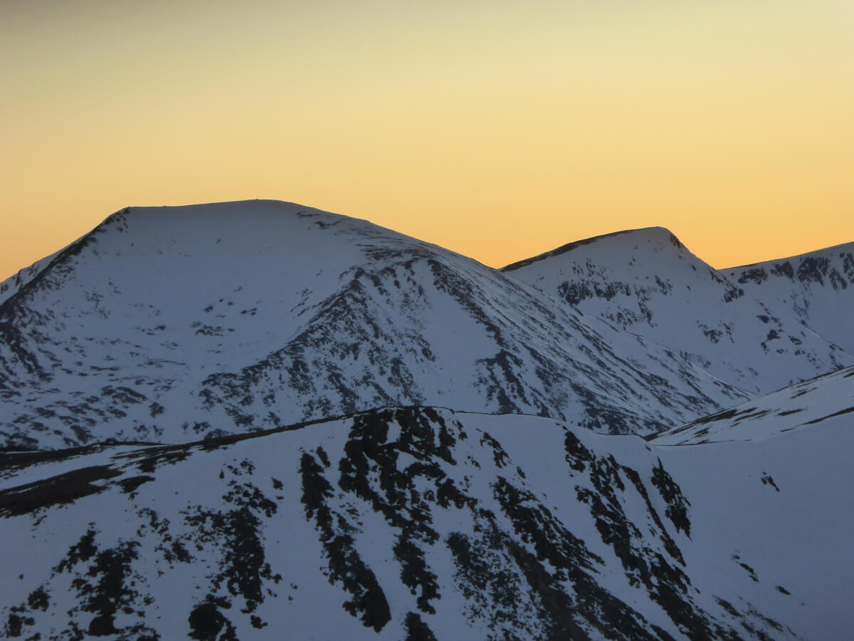 winter sunset Cairngorms