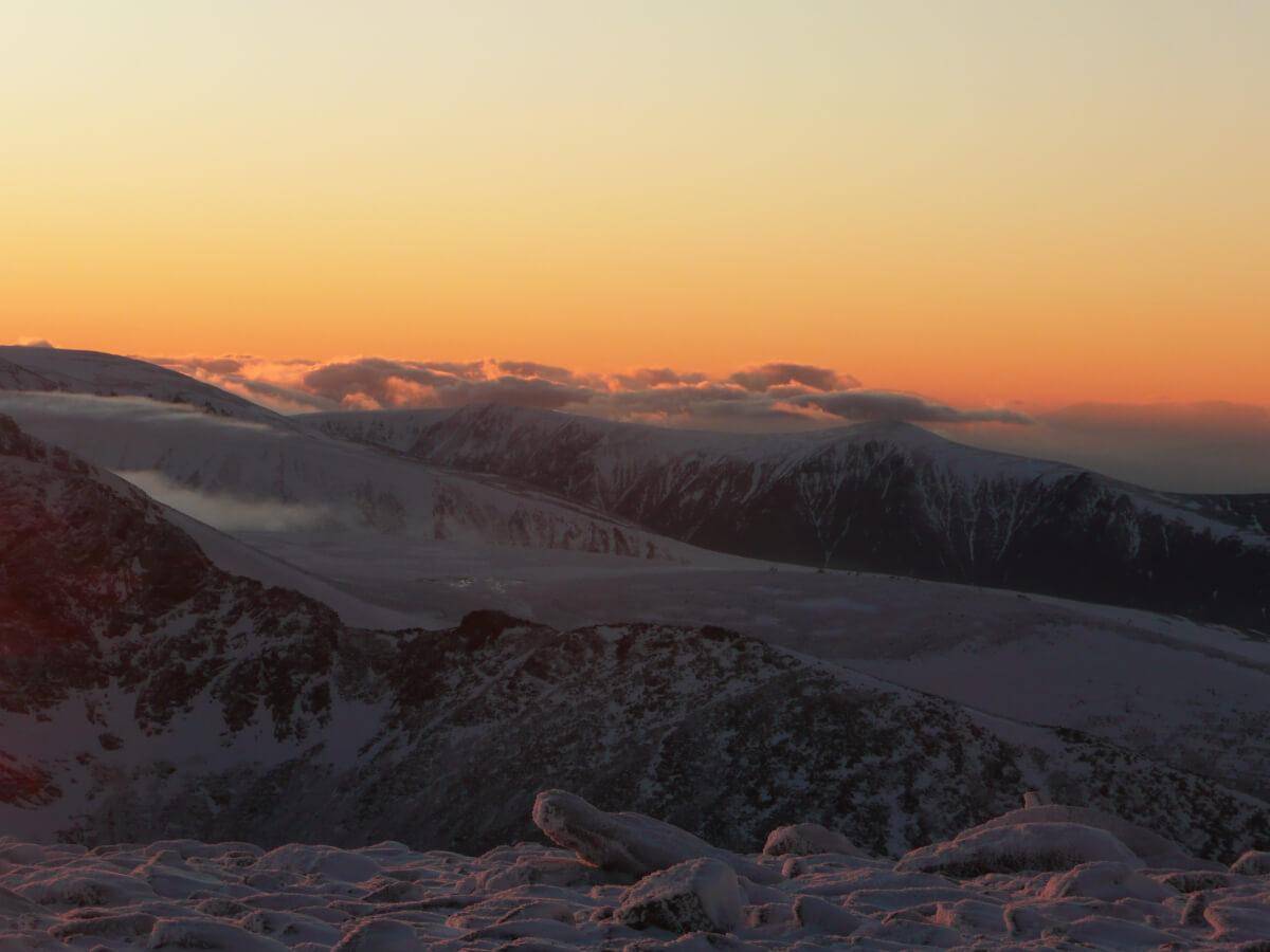 winter sunset Cairngorms