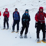 Snowshoe adventure in Scotland