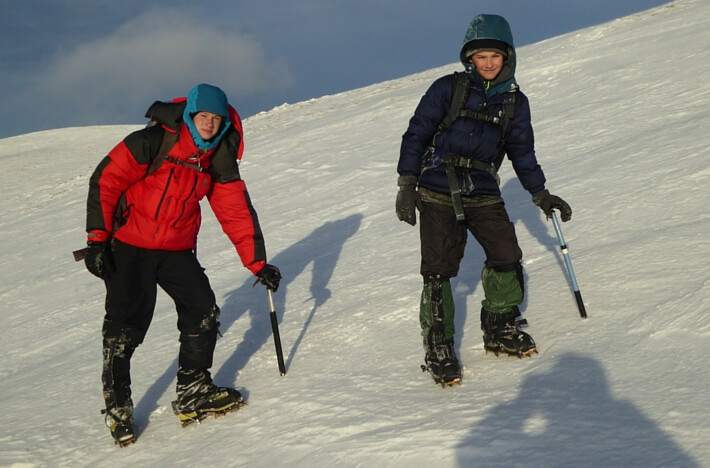winter skills in the Cairngorms
