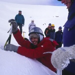 Using an ice axe