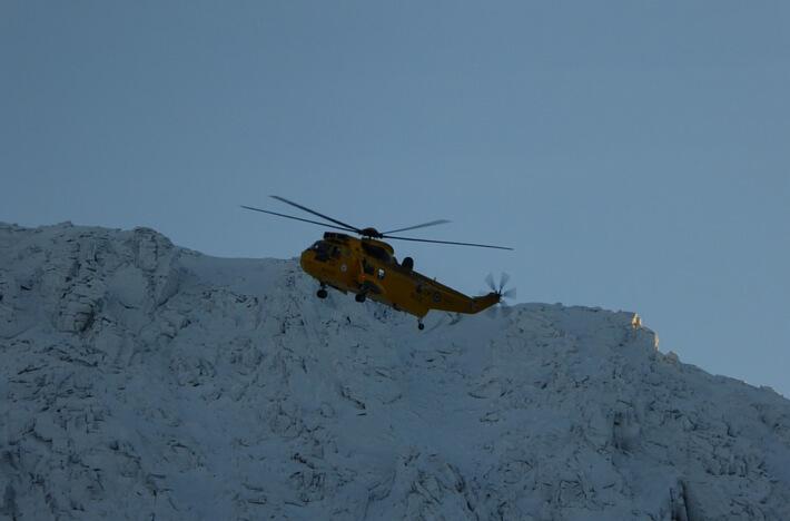 winter mountain rescue