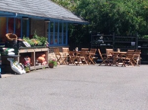 Cycle friendly cafe in Boat of Garten. Outdoor stables and bike stand available.
