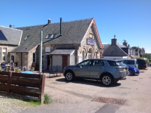 1896 Cafe in Boat of Garten. Cycle friendly and recommended.