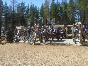 Cyclist friendly cafes