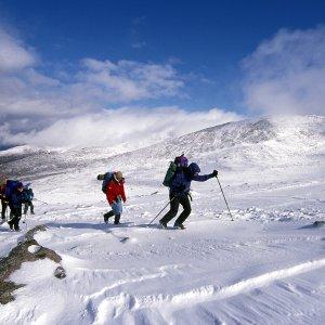 winter walking in Scotland