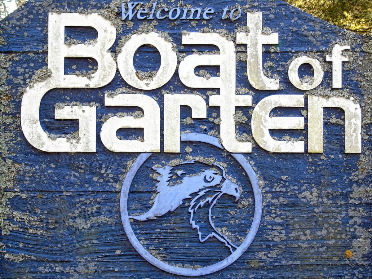 Boat of Garten welcome sign.