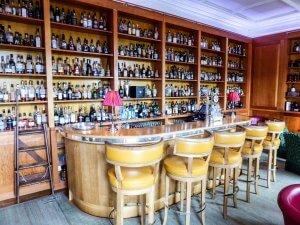 Inside a whisky tasting bar