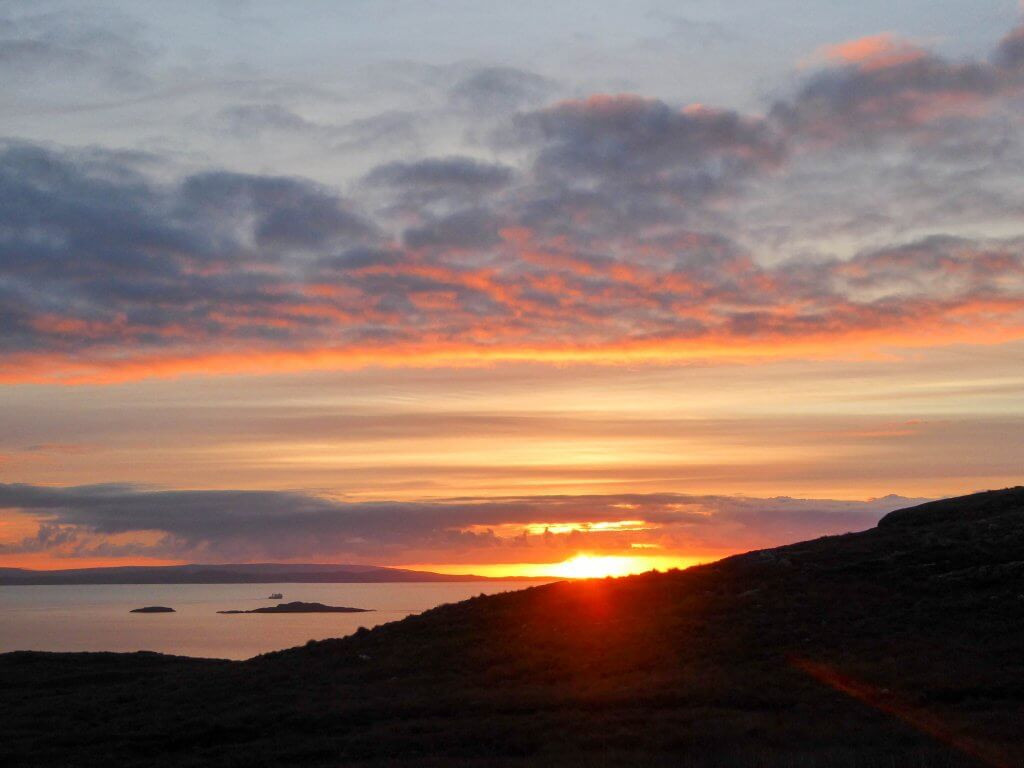 autumn sunset, Assynt (Scotland)