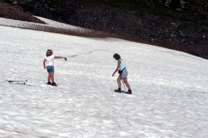 Summer snow patches in Scotland