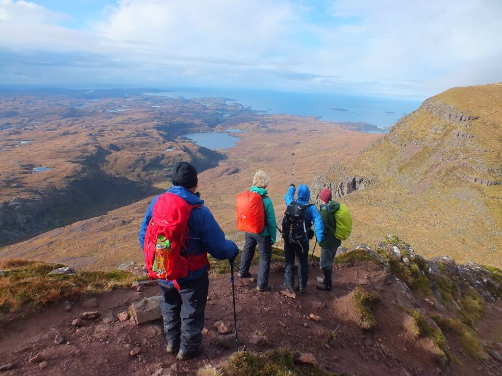 hiking in Assynt