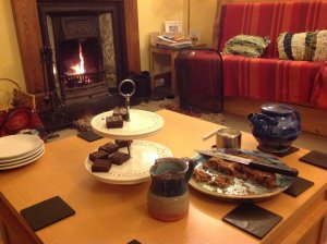 brownies by the fire