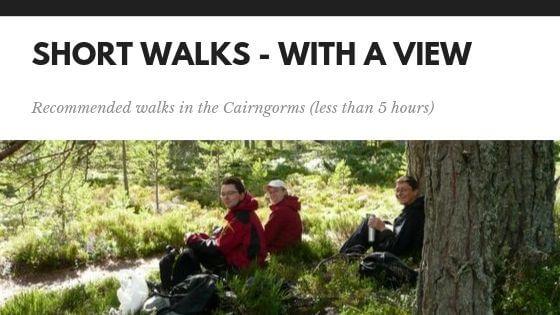 short walks in the Cairngorms