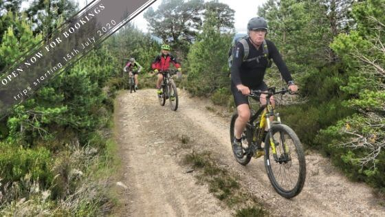 mountain biking in the Cairngorms